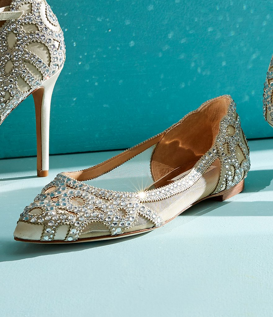 7a750ec48059 New Arrival Badgley Mischka Gigi Rhinestone-Embellished Pointed-Toe Flats  Women Shoes qBdT5pk8W hot