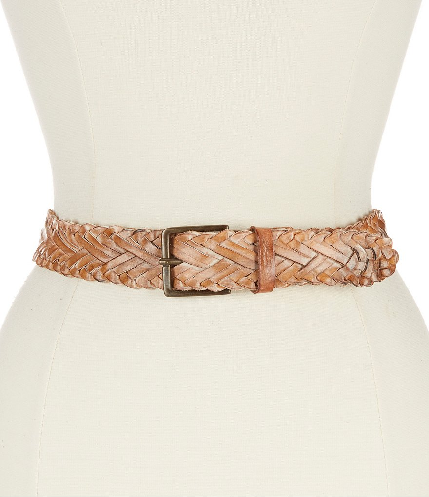 Bed Stu Proem Braided Leather Belt