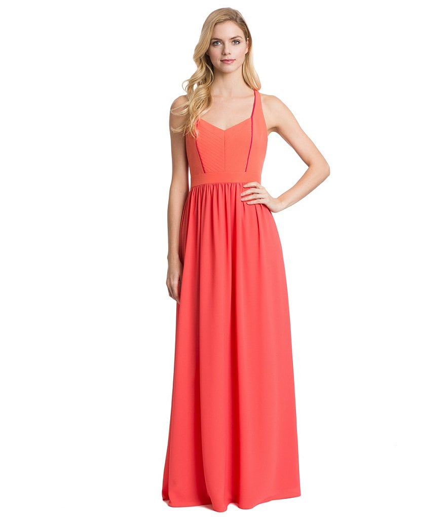 Belle Badgley Mischka Georgette Empire Waist Penelope Dress