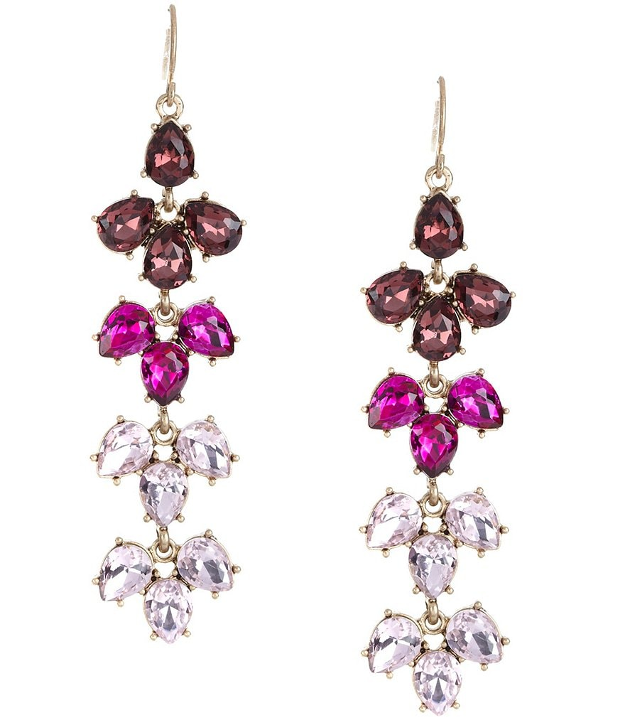 Belle Badgley Mischka Ombré Fan Statement Earrings
