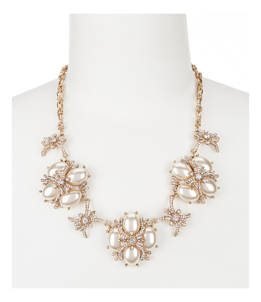 Belle Badgley Mischka Faux-Pearl Statement Necklace