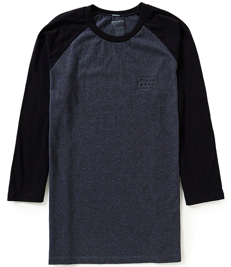 Billabong Die-Cut Color Block Raglan-Sleeve Tee