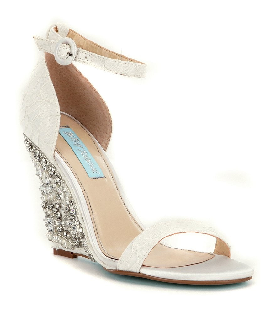 Blue by Betsey Johnson Alisa Wedge Sandals