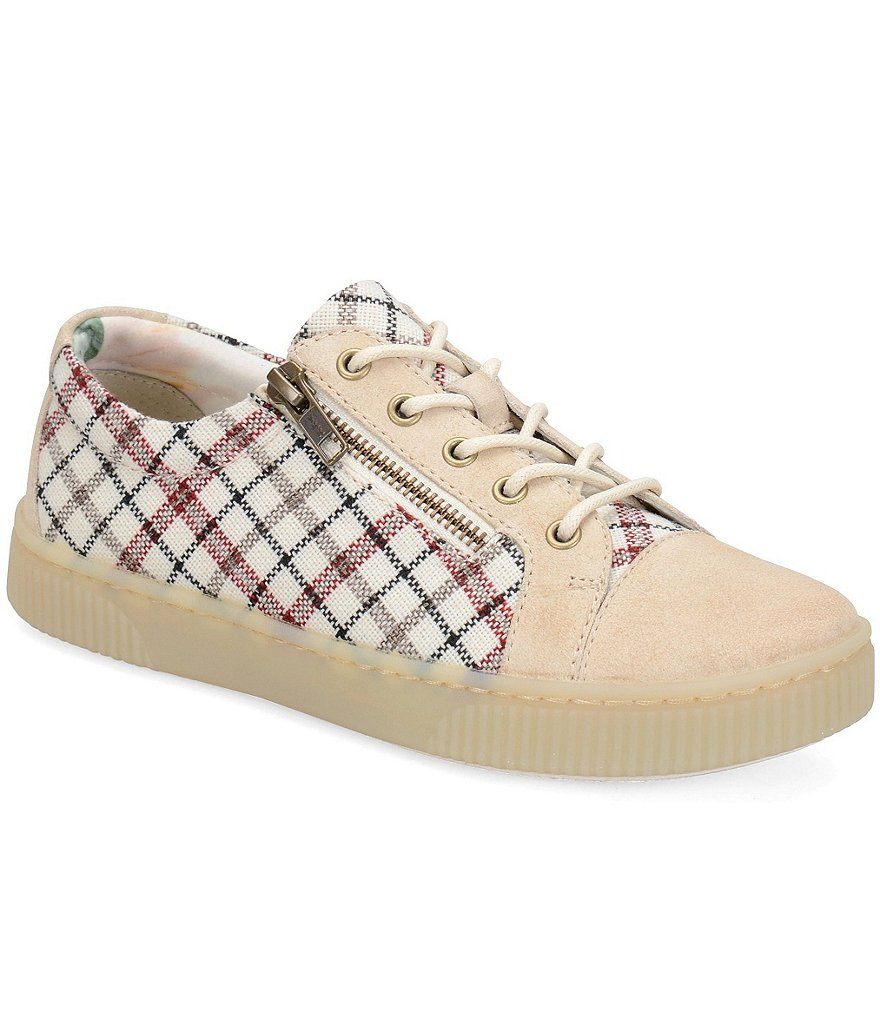 Born Tamara Checked Platform Sneakers