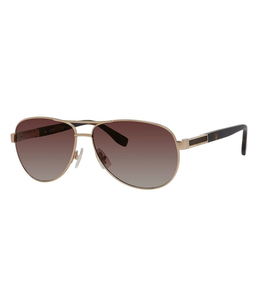BOSS Hugo Boss Polarized Gradient Aviator Sunglasses