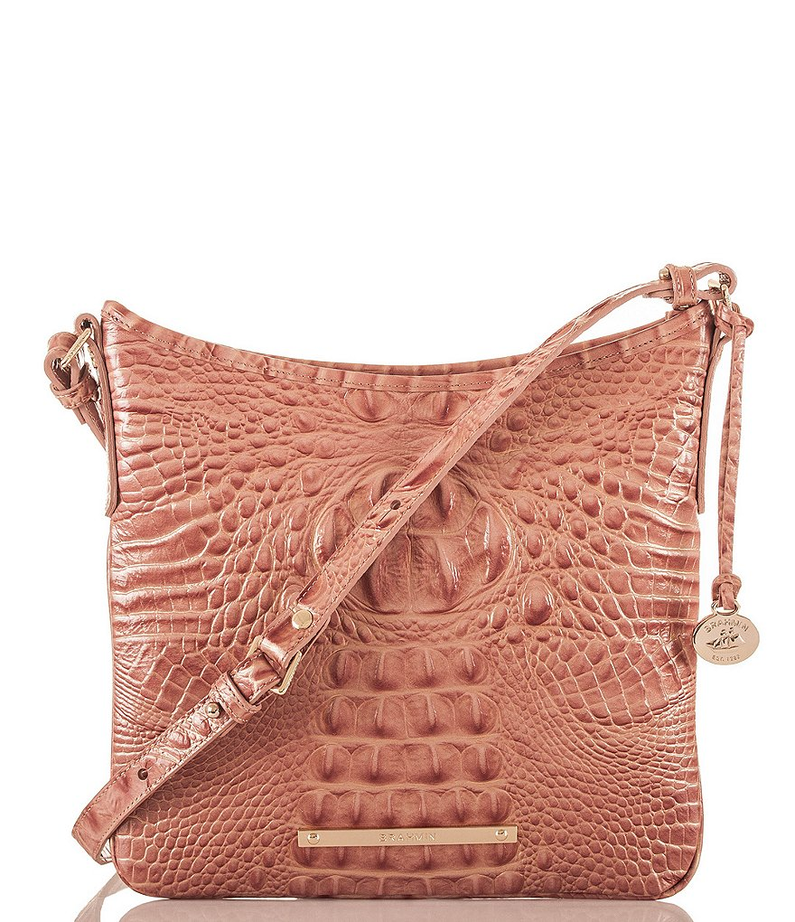 Brahmin Melbourne Collection Jody Croco-Embossed Cross-Body Bag