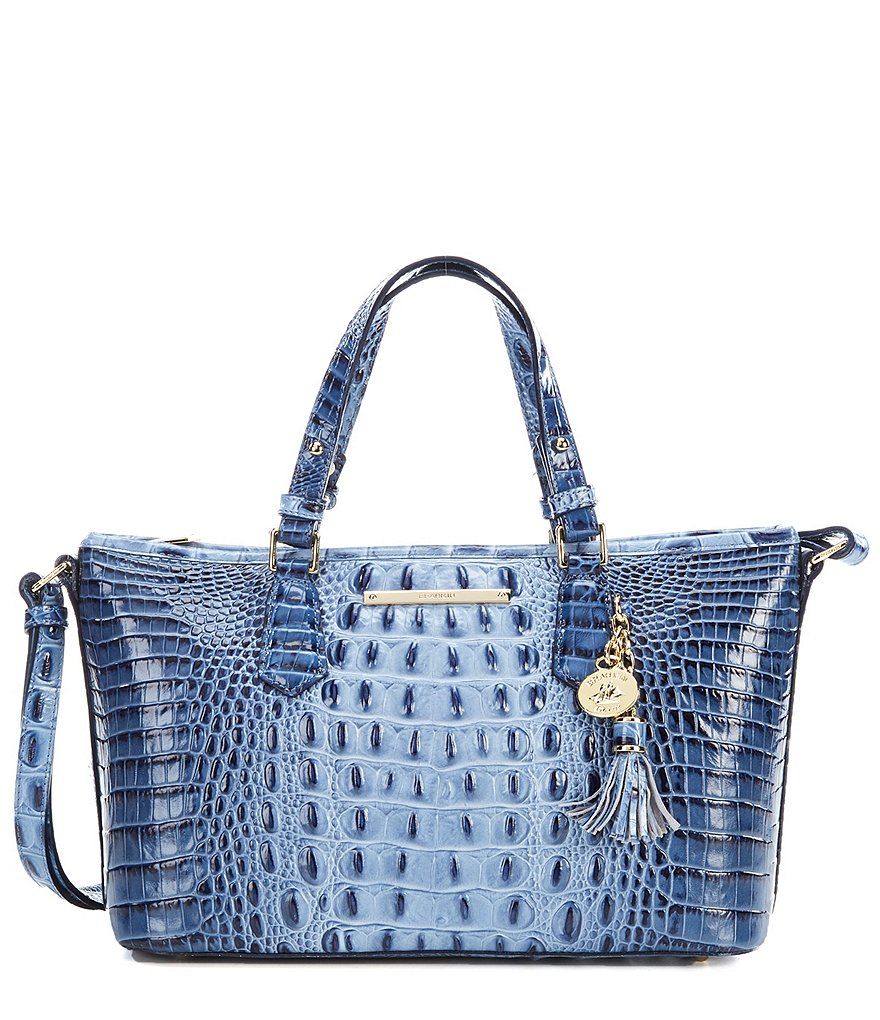 Brahmin Melbourne Collection Mini Asher Crocodile-Embossed Tote