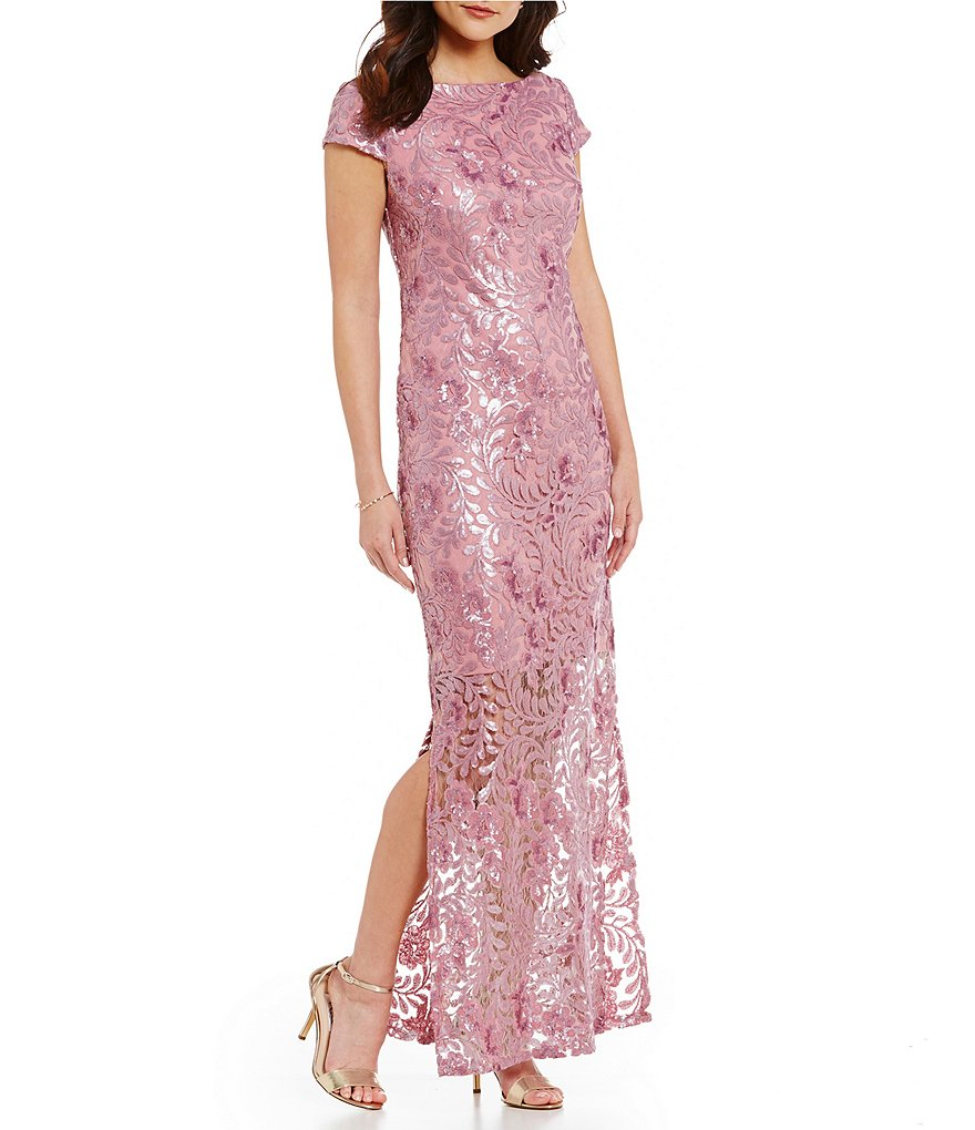 Brianna Embroidered Sequin Gown