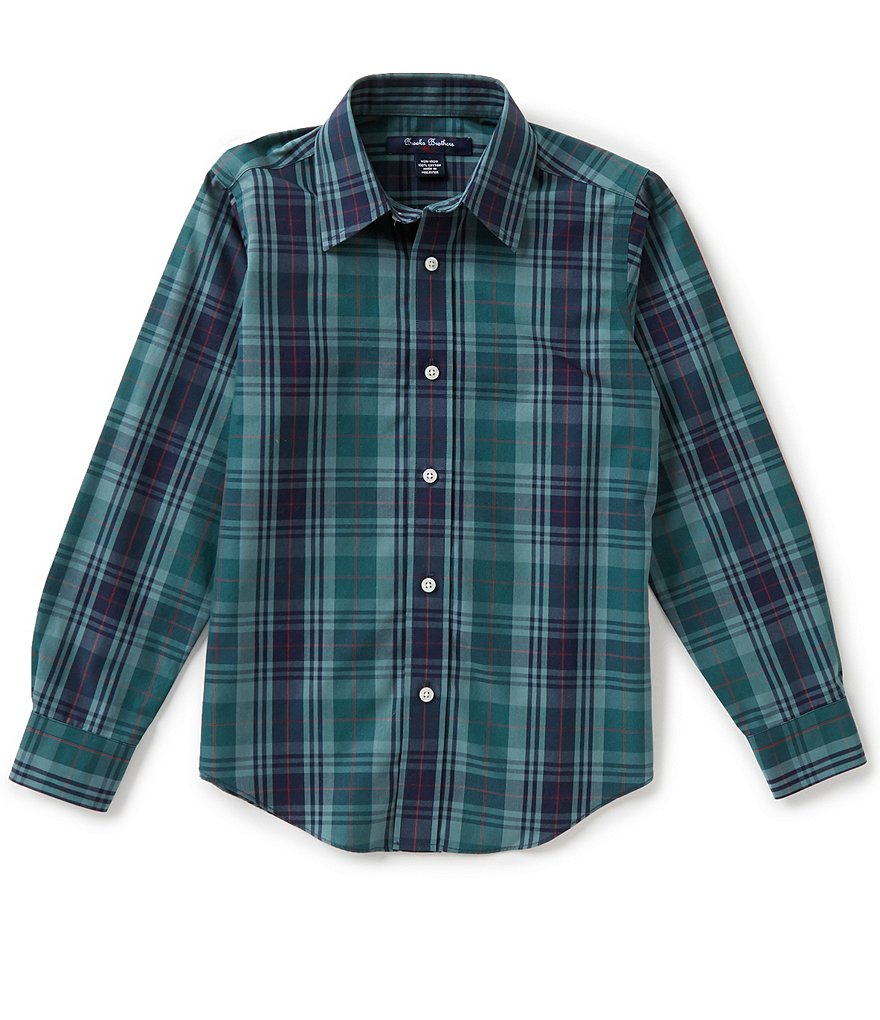 Brooks Brothers Little/Big Boys 4-20 Non-Iron Big Plaid Shirt
