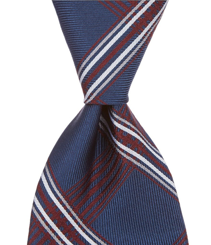 Brooks Brothers Plaid Stripe Traditional Silk Tie