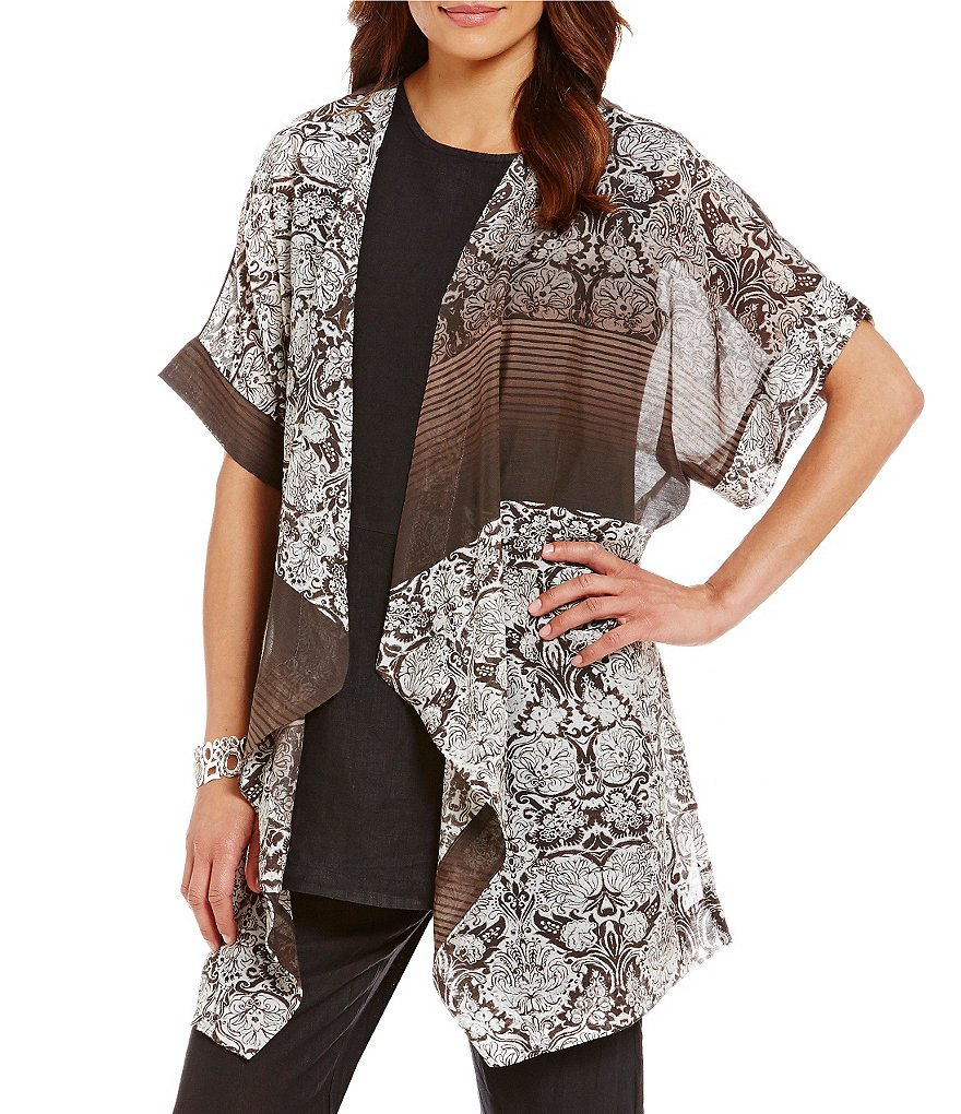 Bryn Walker Esme Open Front Elbow Length Sleeve Cardigan