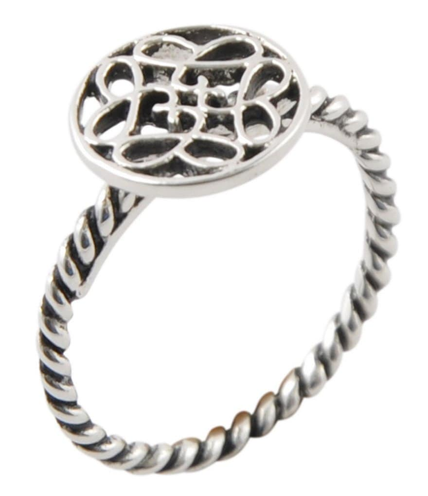 Calvary Sterling Silver J-Scroll Ring