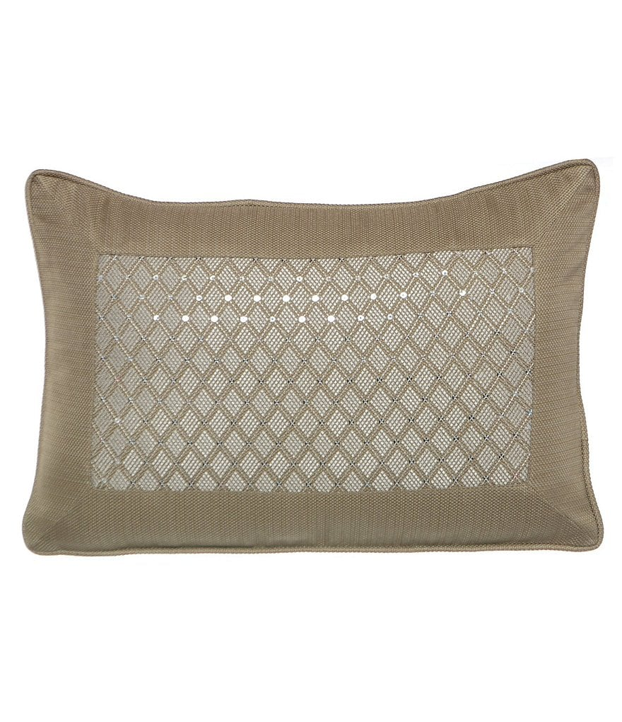 candice OLSON Arcadia Sequined Diamond-Embroidered Pillow