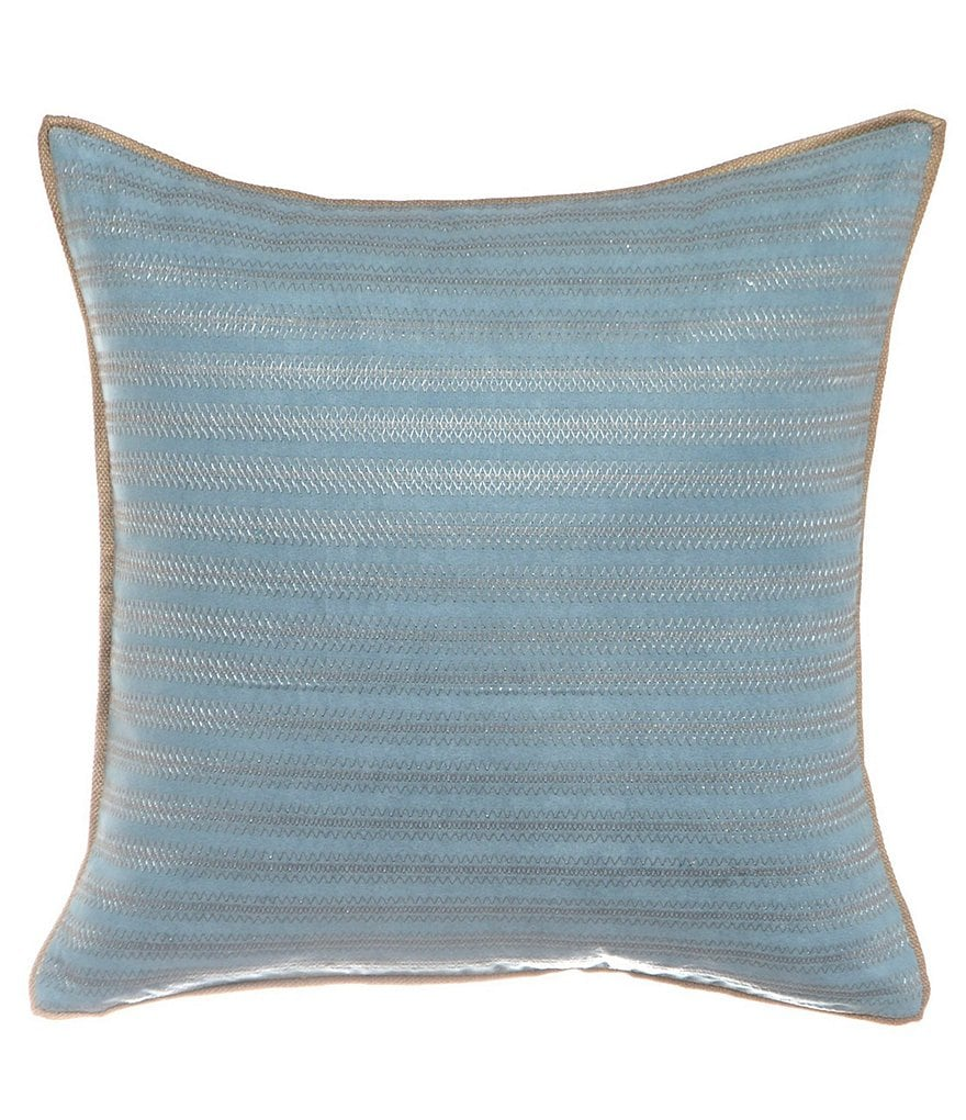 candice OLSON Arcadia Zig Zag Embroidered Pillow