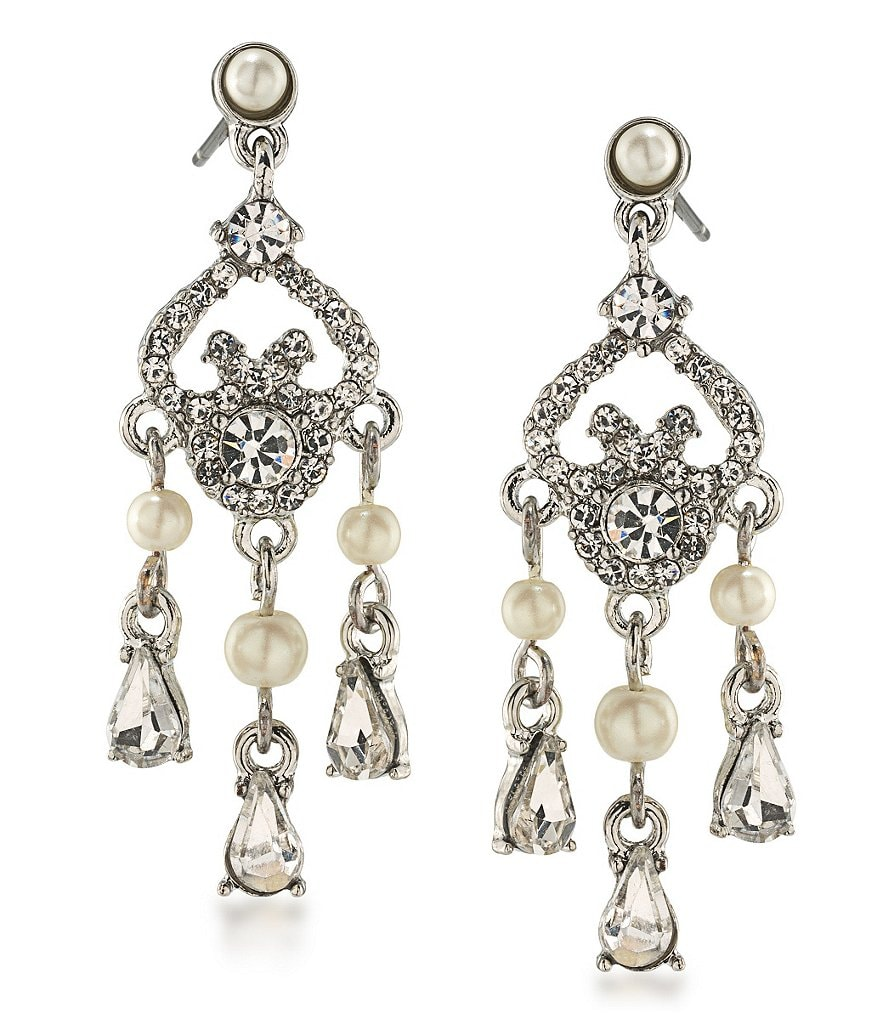 Carolee 21 Club Faux-Pearl Mini Chandelier Statement Earrings
