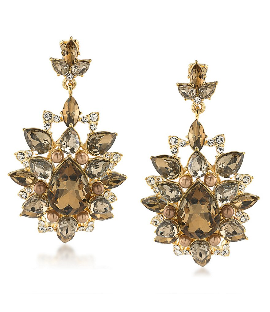 Carolee Metropolitan Club Statement Chandelier Clip-On Earrings