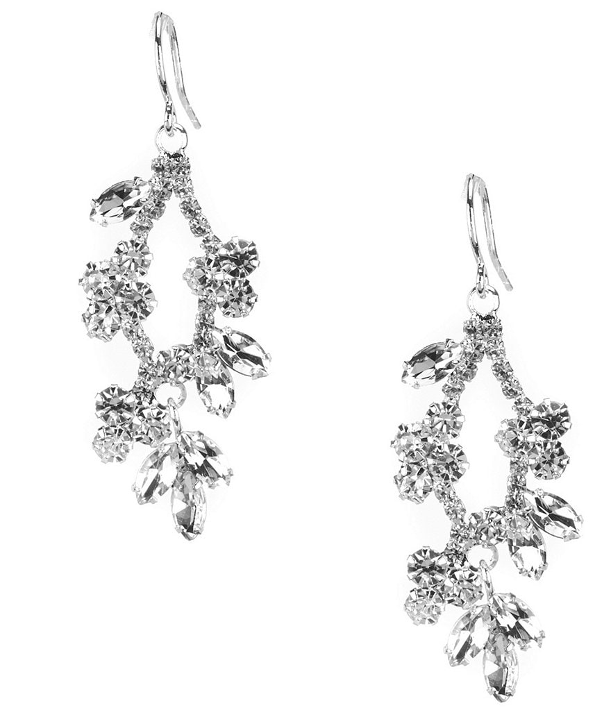 Cezanne Petite Flowers Drop Statement Earrings