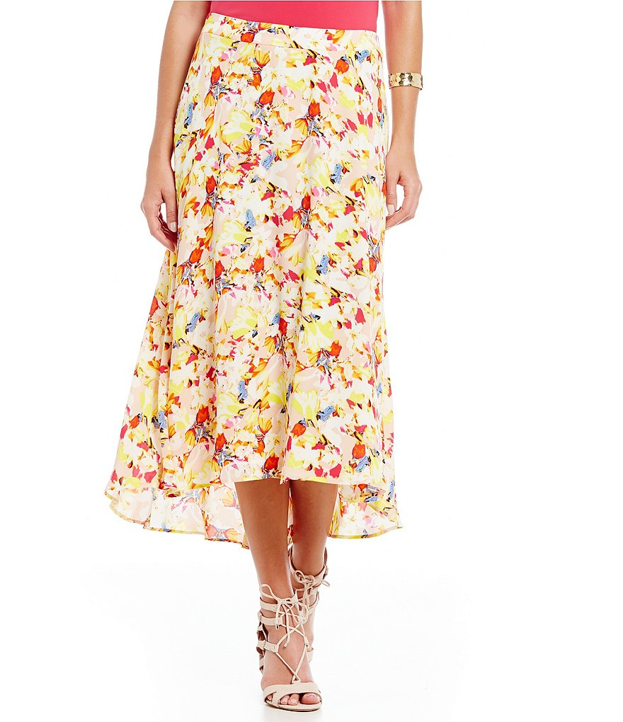 Chaus Bouquet Medley Sharkbite Maxi Skirt