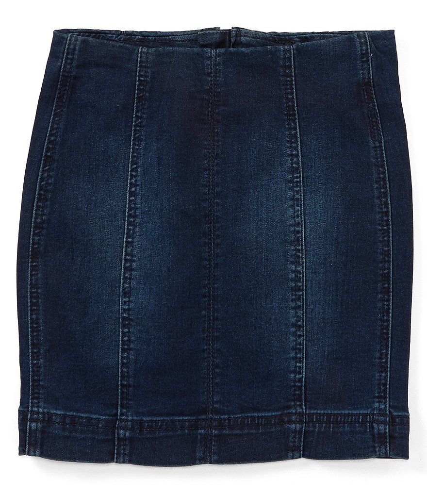 Chelsea & Violet Girls Big Girls 7-16 Seamed Denim Mini Skirt