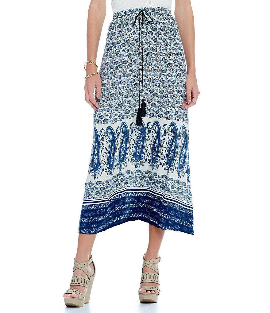 Chelsea & Violet Printed Maxi Skirt