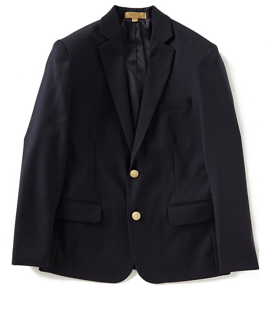 Class Club Gold Label Big Boy 10-20 Husky Fit Brass Button Navy Blazer