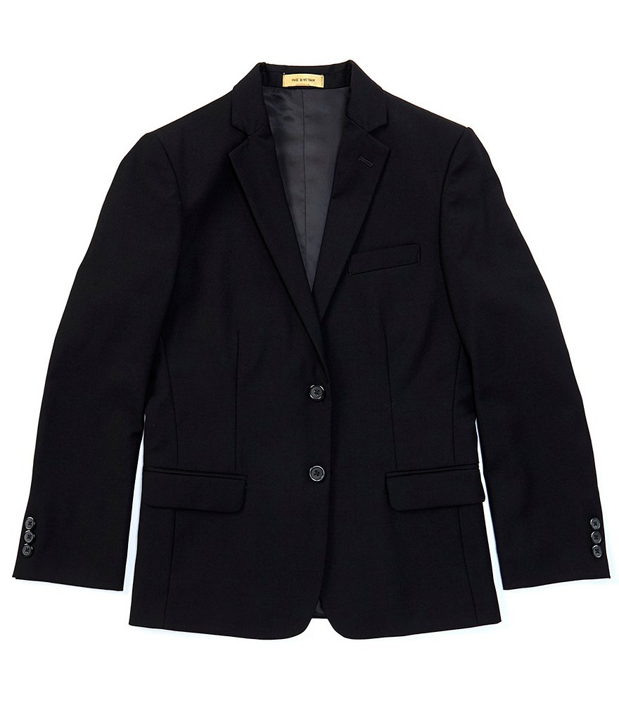 Class Club Gold Label Big Boys 8-20 Black Single-Breasted Blazer