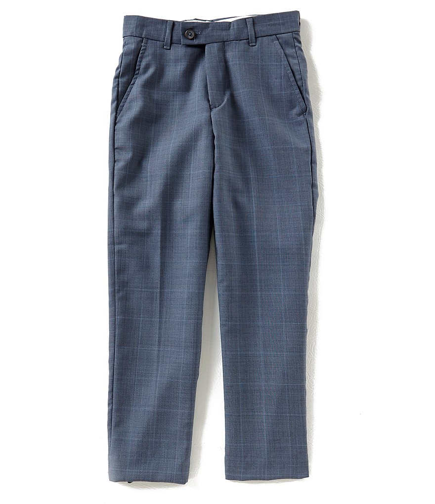 Class Club Gold Label Big Boys 8-20 Window Pane Dress Pants