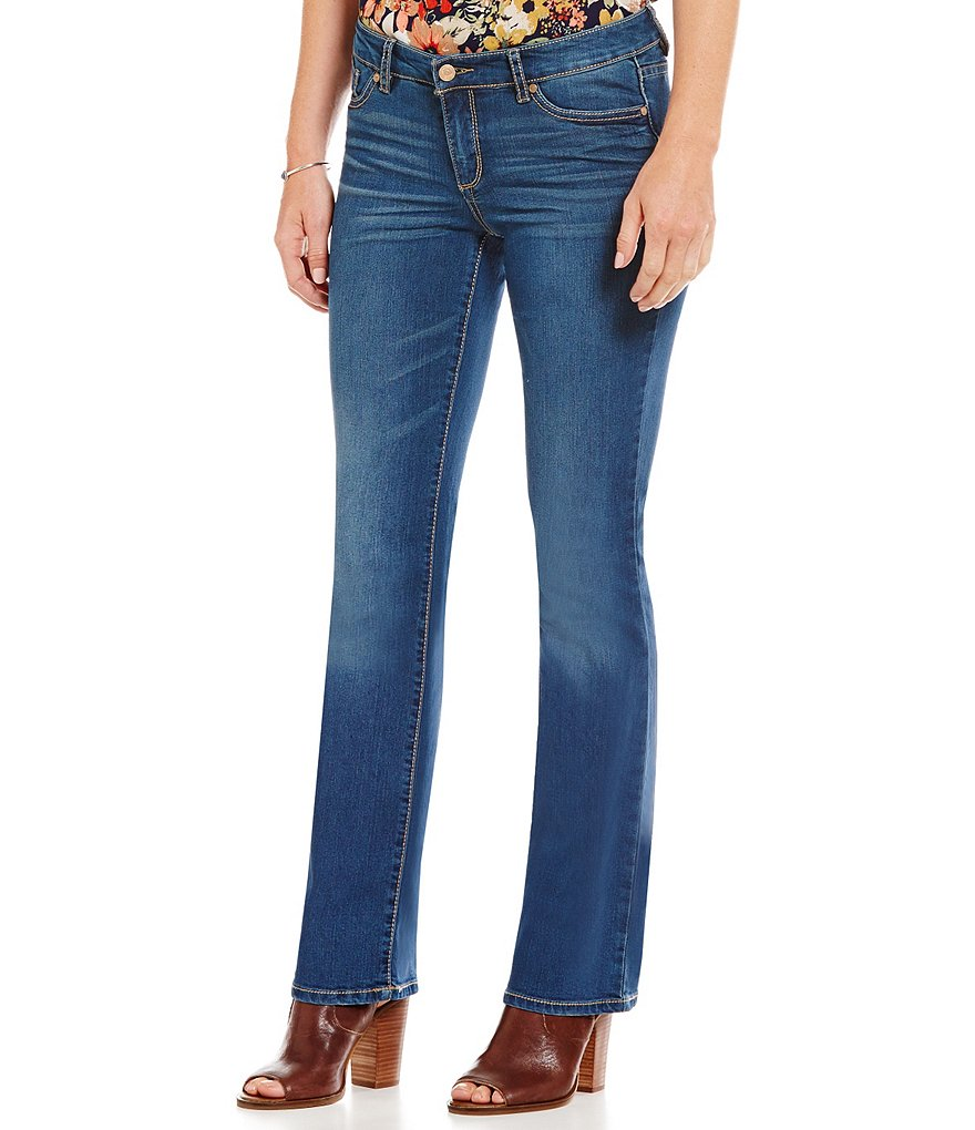 Code Bleu Soho Embroidered Back-Pockets Bootcut Jeans