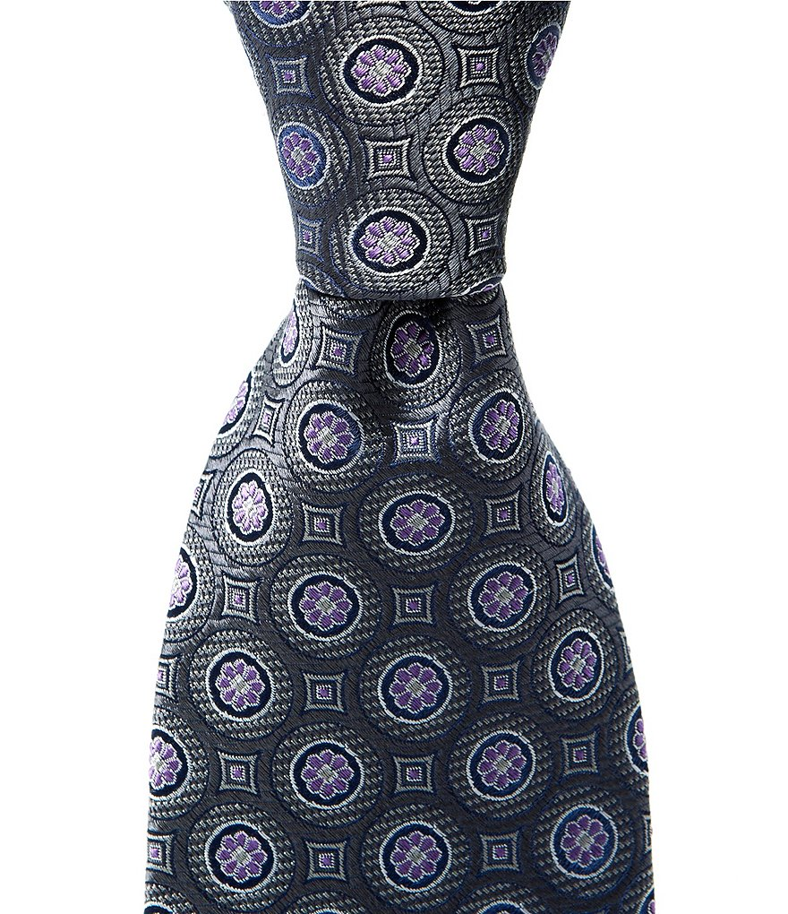 Cremieux Big & Tall Medallion Dial Traditional Silk Tie