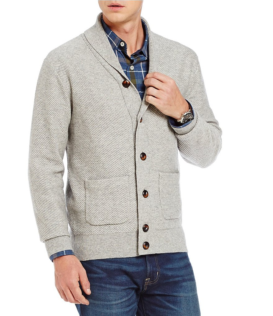 Cremieux Cashmere Long-Sleeve Shawl Cardigan