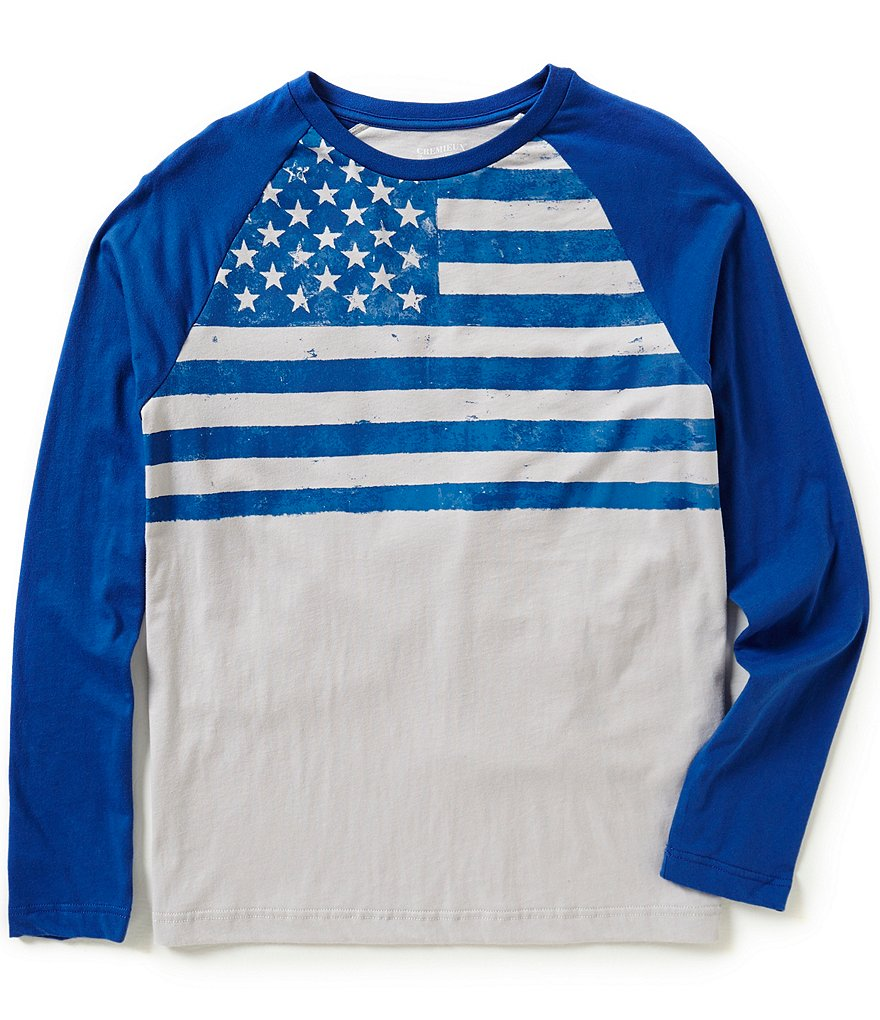 Cremieux Jeans Long Sleeve Flag Graphic Tee