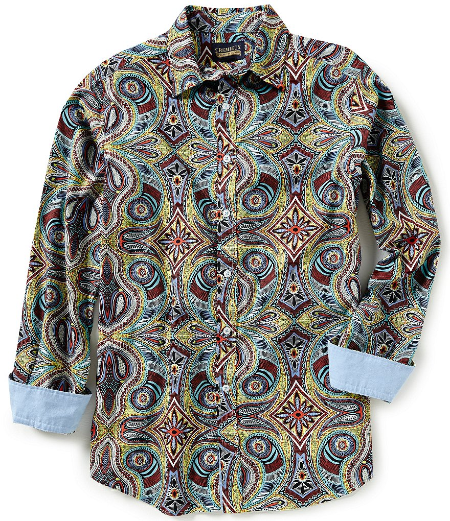 Cremieux Jeans Long-Sleeve Paisley Woven Shirt