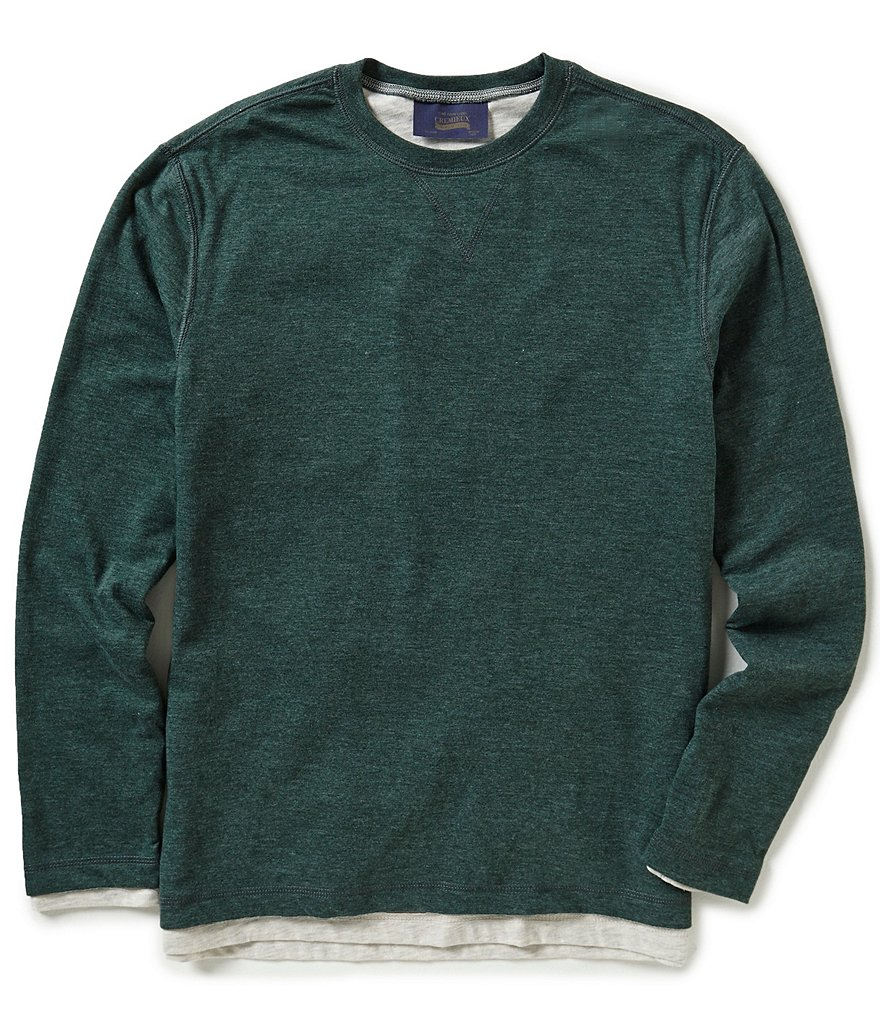 Cremieux Jeans Solid Reversible Long-Sleeve Tee