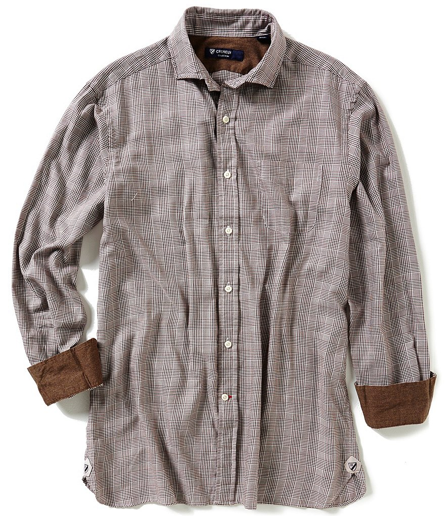 Cremieux Highland Peaks Collection Houndstooth Plaid Woven Shirt