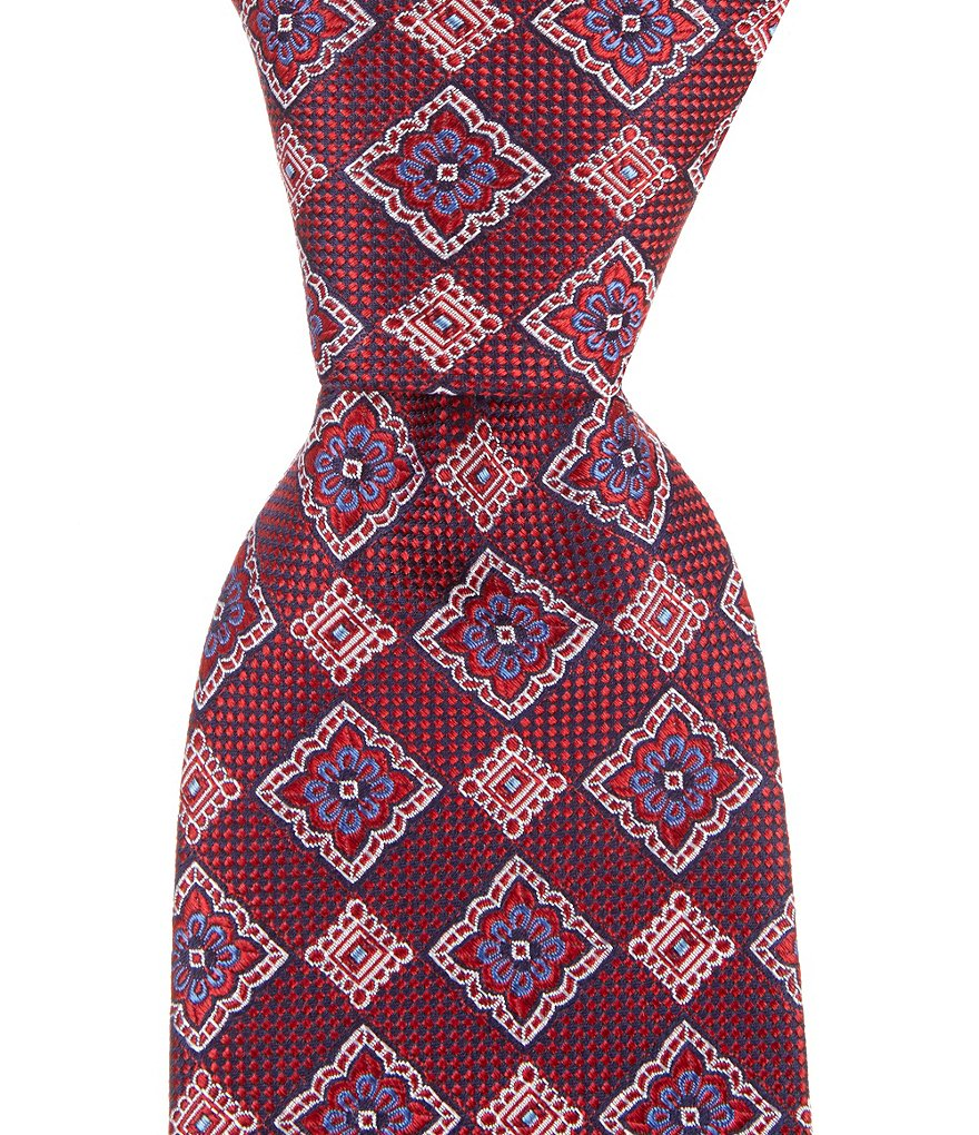 Cremieux Mixed Medallion Traditional Silk Tie