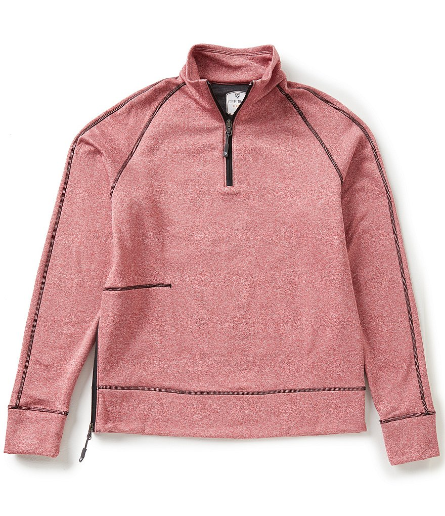 Cremieux Club 38 Mockneck Quarter-Zip Fleece Pullover