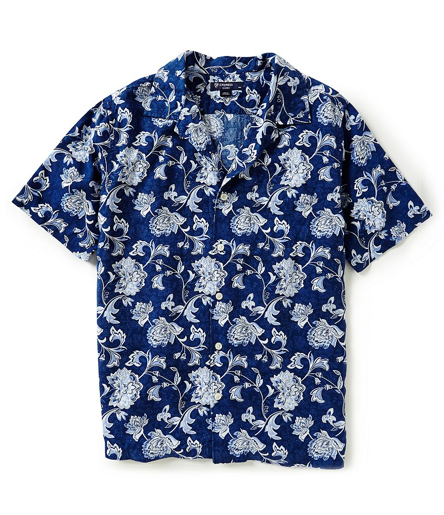 Cremieux Short-Sleeve Printed New Camp Shirt