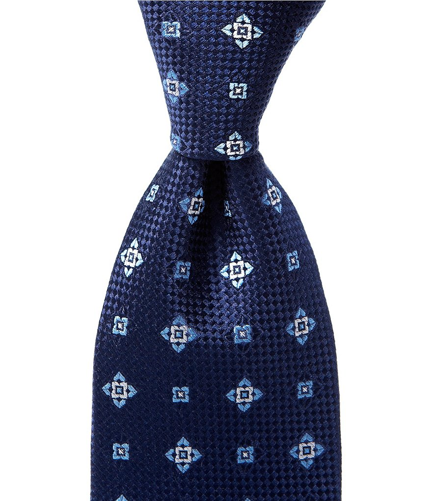 Cremieux Star Check Traditional Silk Tie