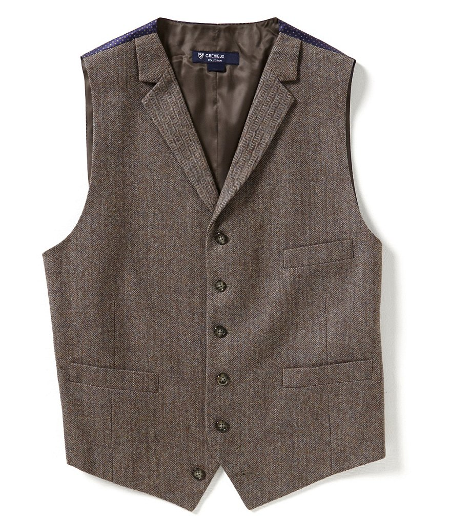 Cremieux Highland Peaks Collection Travis Herringbone Vest
