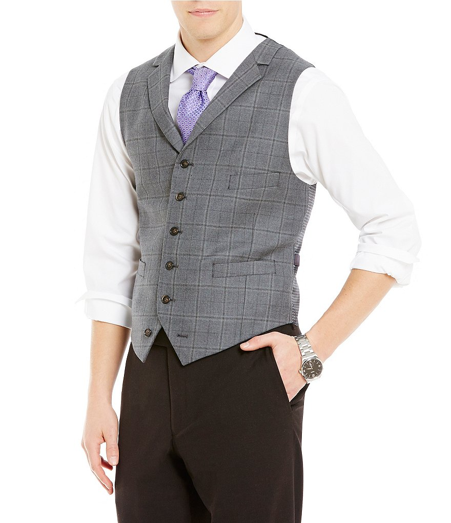 Cremieux Travis Plaid Tailored-Fit Vest