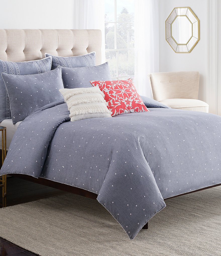 Cupcakes & Cashmere Chambray Dot Duvet