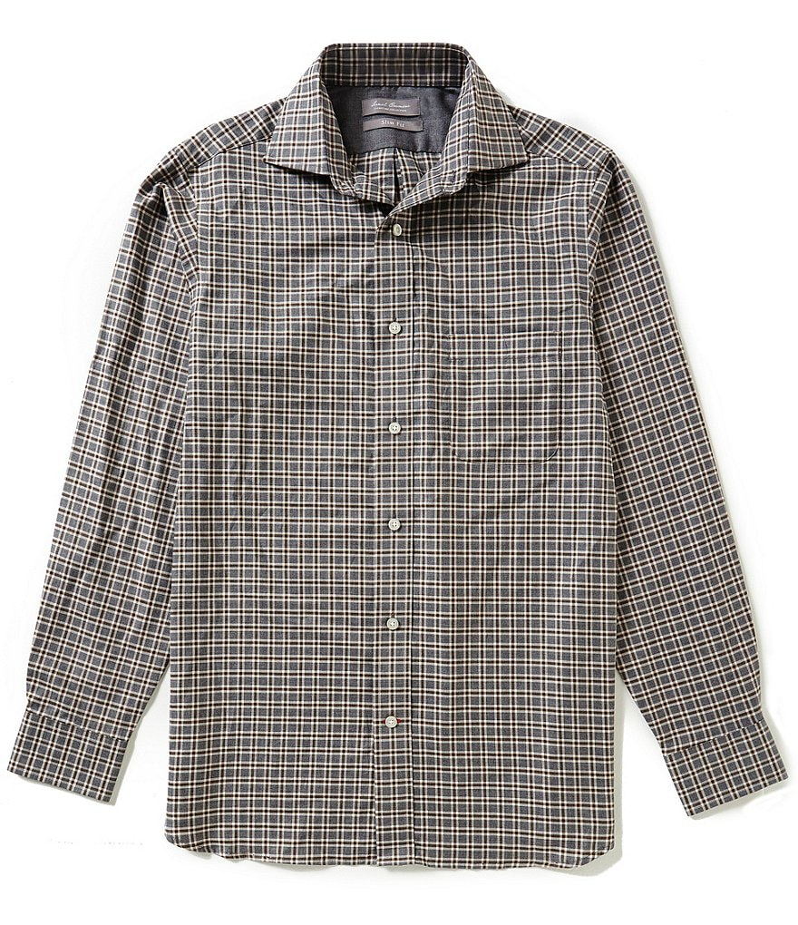 Daniel Cremieux Signature Long-Sleeve Slim-Fit Heather Woven Shirt