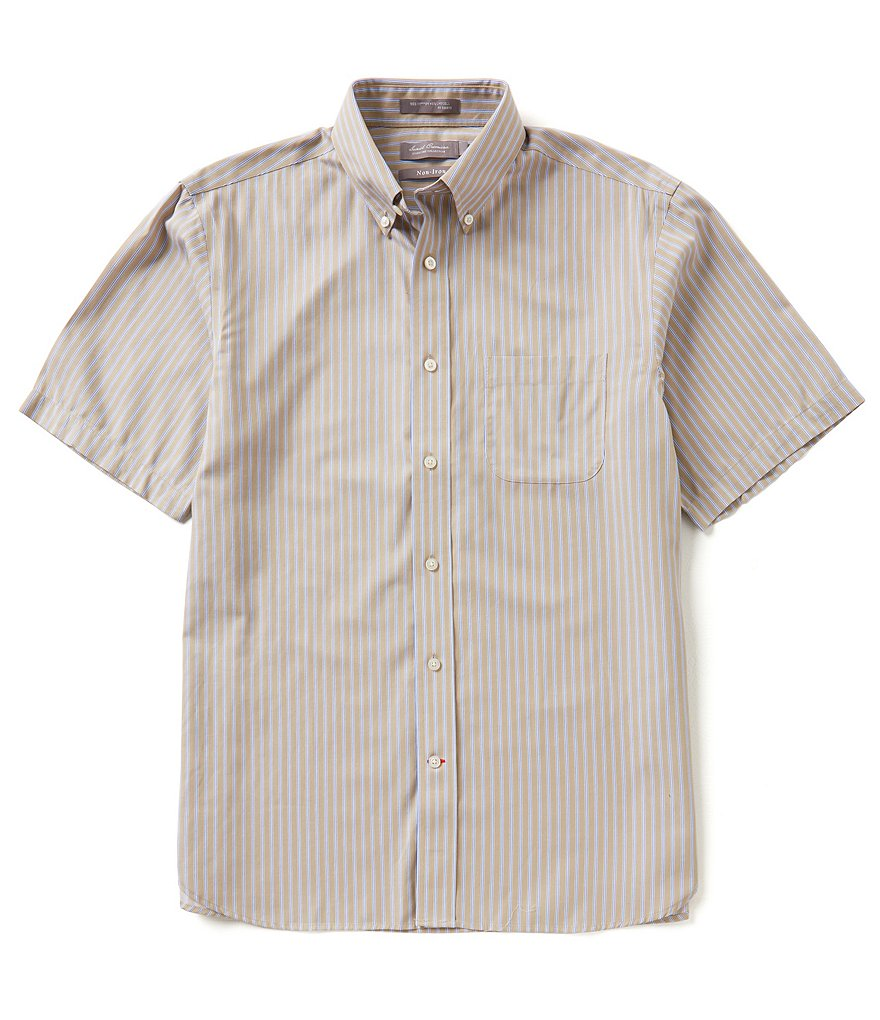 Daniel Cremieux Signature Non-Iron Short-Sleeve Stripe Woven Shirt