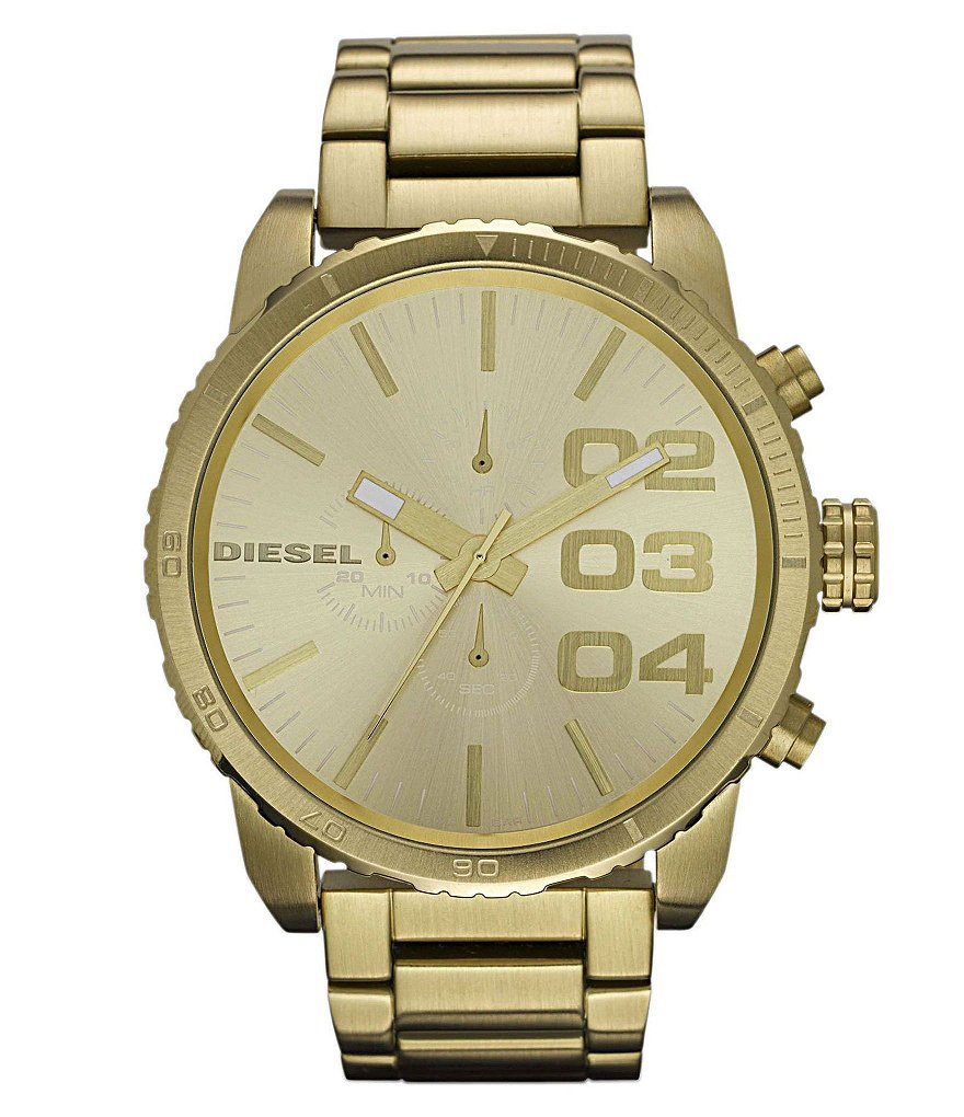Diesel Goldtone Stainless Steel Bracelet Chronograph Watch