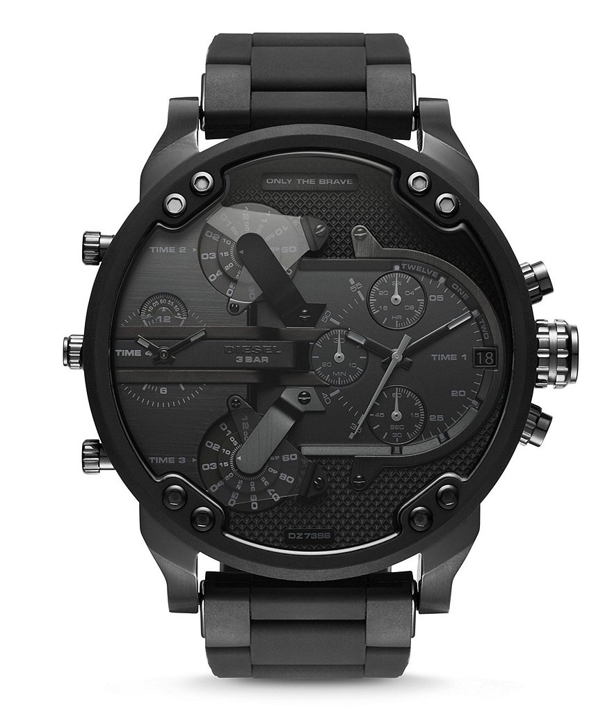 Diesel Mr. Daddy 2.0 Silicone-Wrapped Stainless Steel Chronograph Watch