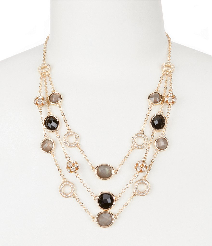 Dillard´s Tailored Shimmer Stone Statement Necklace