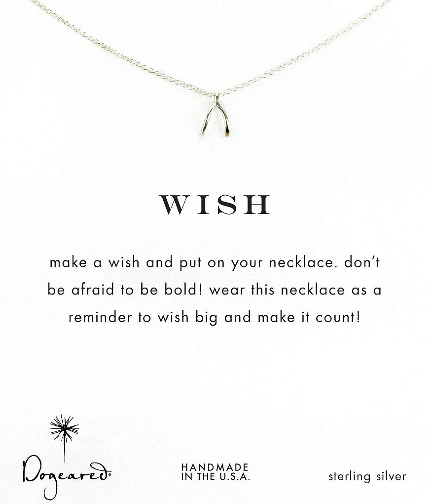 Dogeared Wishbone Delicate Necklace