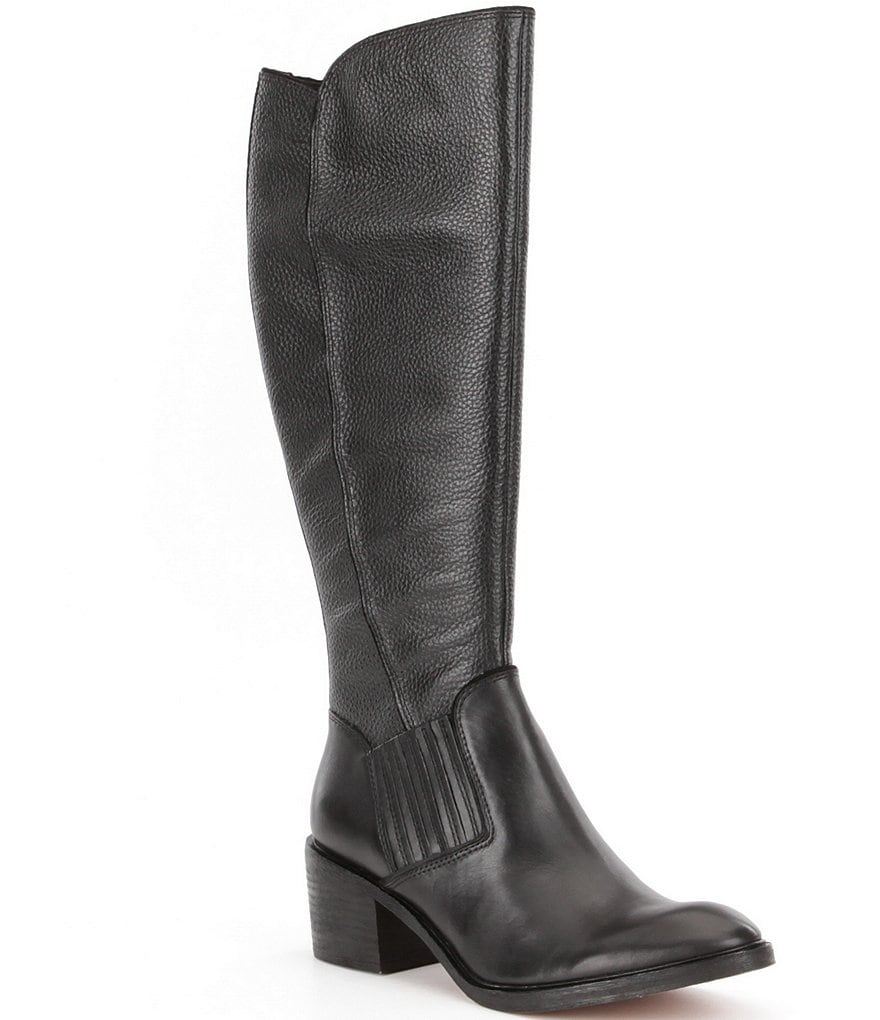 Donald J Pliner Envy Metallic Leather Tall Boots