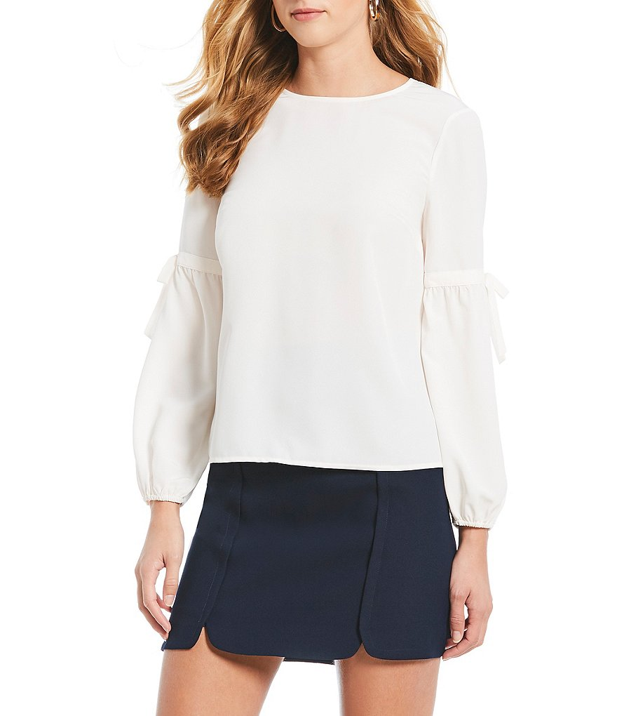 Draper James Long Bubble Sleeve Collection Blouse
