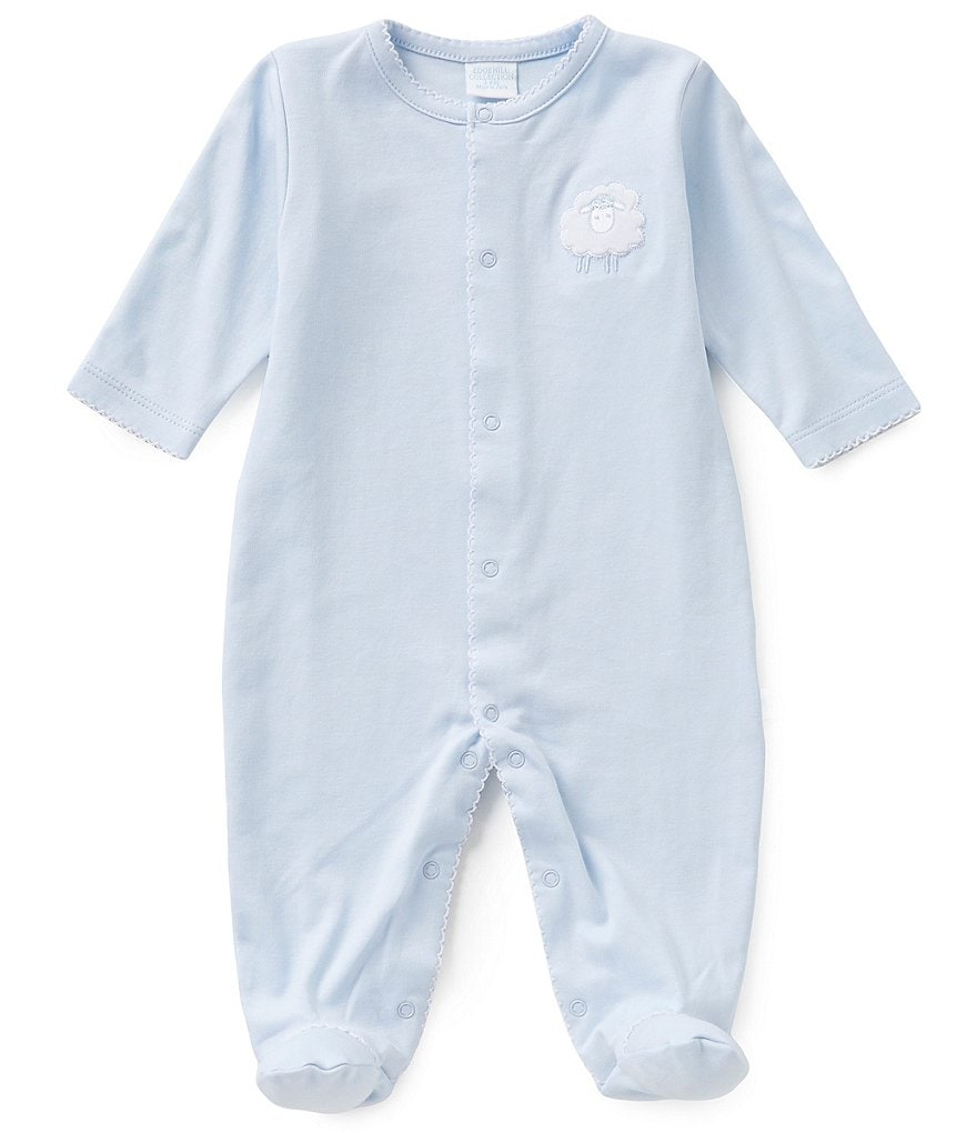 Edgehill Collection 3-6 Months Lamb Embroidered Coveralls